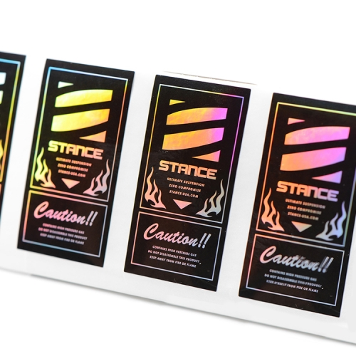 Custom high quality 3D holographic sticker label printing